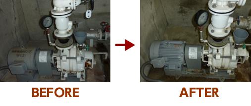 貯水槽モーター交換